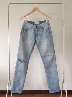 Cotton On Light Wash Boyfriend Jeans