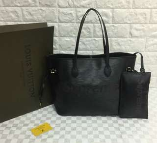 Louis Vuitton Supreme Black Neverfull