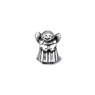 Sterling Silver Guardian Angel Pandora Charm - Antique