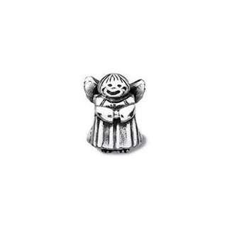 Sterling Silver Guardian Angel Pandora Charm - Antique