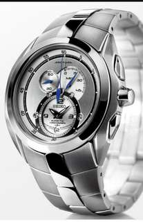 SEIKO 精工 Kinetic chronograph 計時男錶(不需電池),全新,未開封,吊牌,原裝盒。