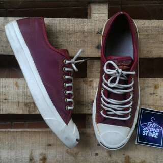 Converse Jack Purcell Leather Wine