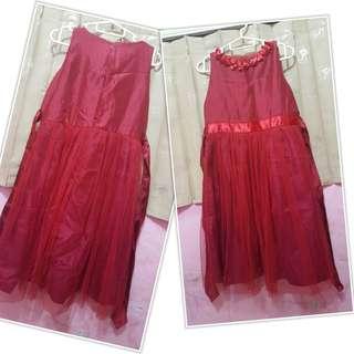 Dress Pesta/lebaran anak Merah