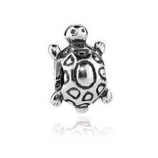 Sterling Silver Pandora Charm - Turtle - Antique