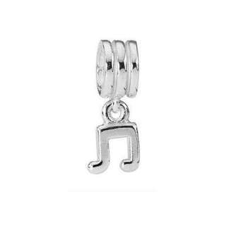 Sterling Silver Pandora Charm - Music Dangle - Antique