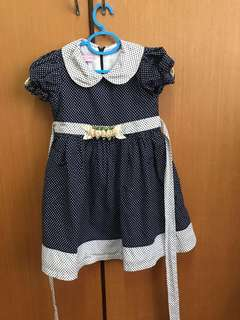 Lovely Lace Baby Polka Dot Dress