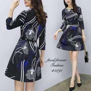 🍃Elegant Long Sleeved Belted Dress