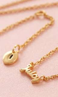 Juicy Couture juice (gold colour) necklace