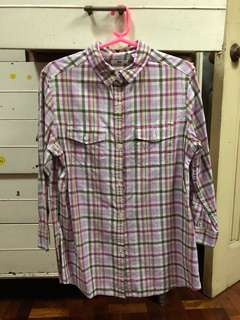Uniqlo Purple Checkered top