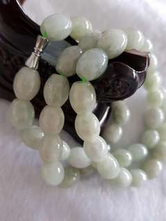 Jade barrel necklace