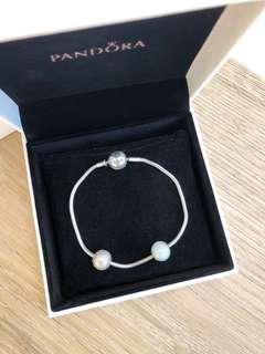 PANDORA Essence Bracelet and Charms - Size 18cm