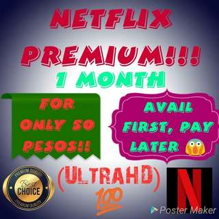1 MONTH NETFLIX PREMIUM ACCOUNT! 💯