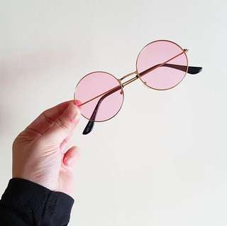 Pink Round Specs