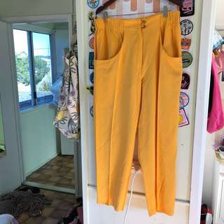Yellow two piece outfi
