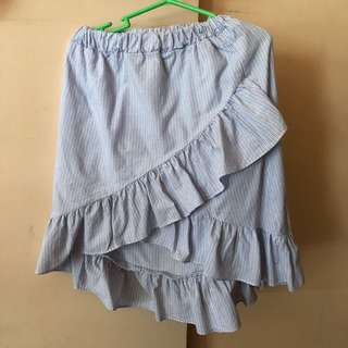 Stripes Ruffles Skirt
