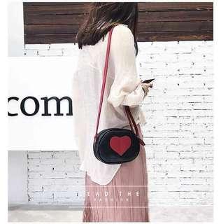 Korean Heart Sling Bag