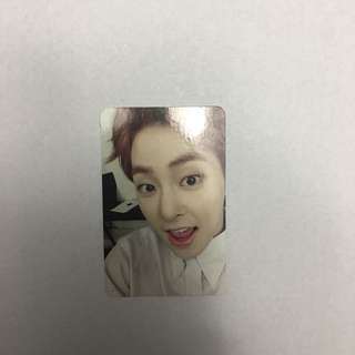 EXO Official Xiumin Photocard