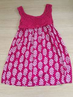 Pink Leaf Summer Dress