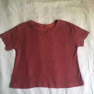 Loose red shirt
