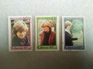 1982 21ST BIRTHDAY OF PRINCESS DIANA STAMPS