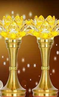 K9 Crystal Altar Lotus Lamp