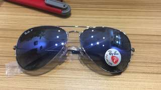 ray ban aviator polarized lenses rb3025 62mm size rayban brand new full packages original
