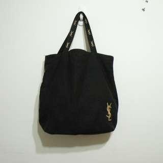YSL 帆布黑色側肩包 手提袋(二手)