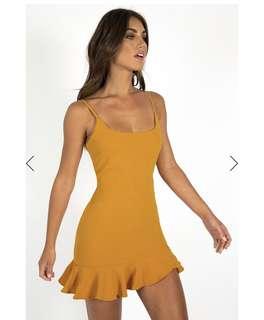 Frill Dress (Mustard/Lemon/Yellow)