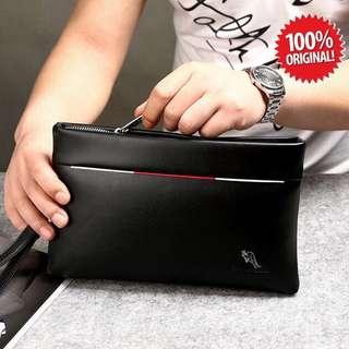 Dompet Handbag Pria clutch Original Import YUESKANGAROO
