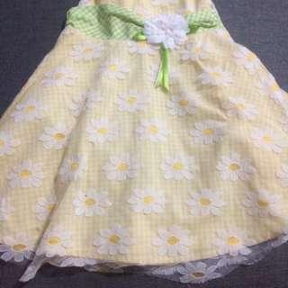 Blueberri Yellow Dress