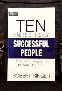 《New Book Condition + 10 Simple Million Dollar Habits to Get Everything You Want In Life》Robert Ringer - TEN HABITS OF HIGHLY SUCCESSFUL PEOPLE :  Powerful Strategies For Personal Triumph