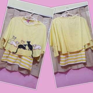 Dress anak yellow 2pcs