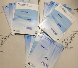 Dse past paper (2012-2015) Biology,Chemistry,Geography