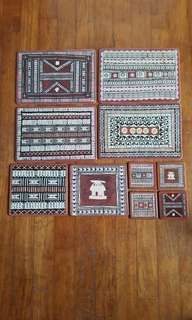 Vintage placemats and coasters