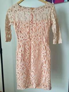 Karimadon Blush lace dress