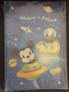 Mickey mouse family F4 size 可愛文件夾