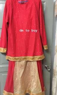 Baju Kurung Moden kain sari