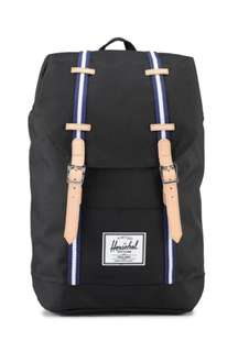 Herschel Supply Co. Retreat Backpack Black/Blueprint/White