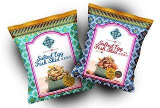 新加坡食樂坡咸蛋薯片魚皮80g