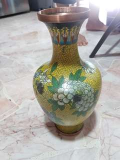 Enamel Painted Bronze Vase