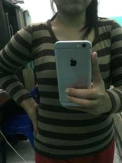 Stripe brown top