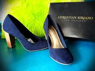 Sepatu Christian Siriano ( kondisi baru , warna navy )