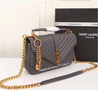 YSL Monogram College - grey