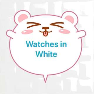 Watches in White