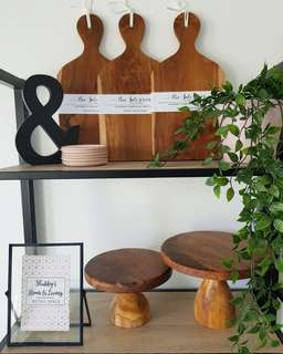 Wooden Cake Stands & Serving Boards