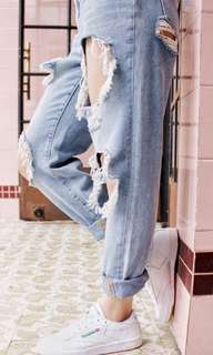 UO Distressed Mom Jeans