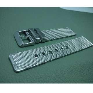 20mm錶帶 22mm錶帶 304L不鏽鋼 編織網 鋼錶帶 合用: ROLEX TUDOR IWC OMEGA (ref:20222編織鋼)
