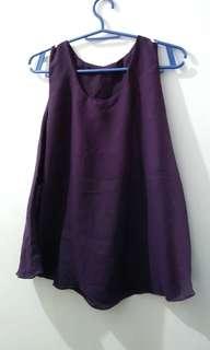 Ladies' Purple Sleeveless Top