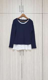 2 pcs Long sleeve loose knitted