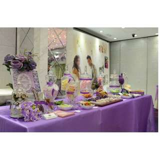 紫色系列婚宴糖果吧佈置Purple Color Wedding Candy Corner Decoration